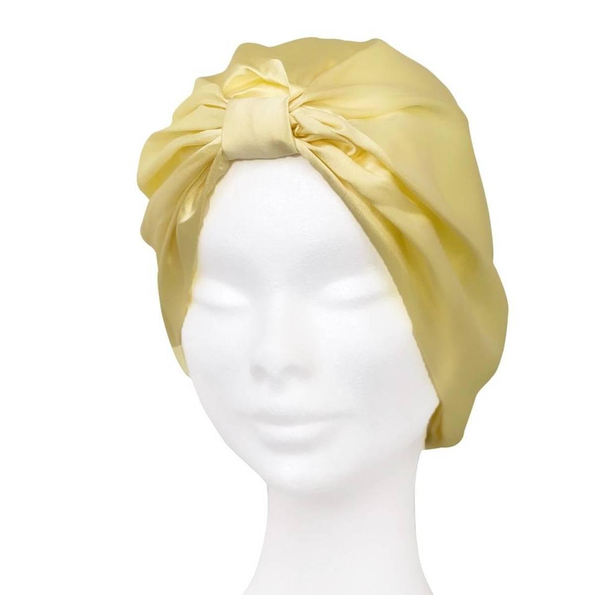 Sove turban i silke-gul