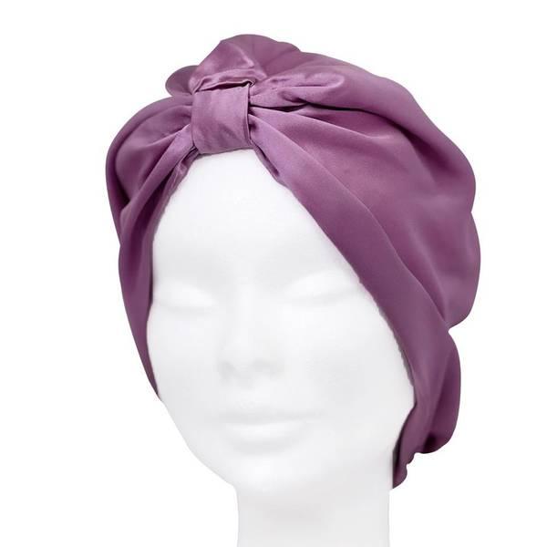 Bilde av Sove turban i silke-lavendel