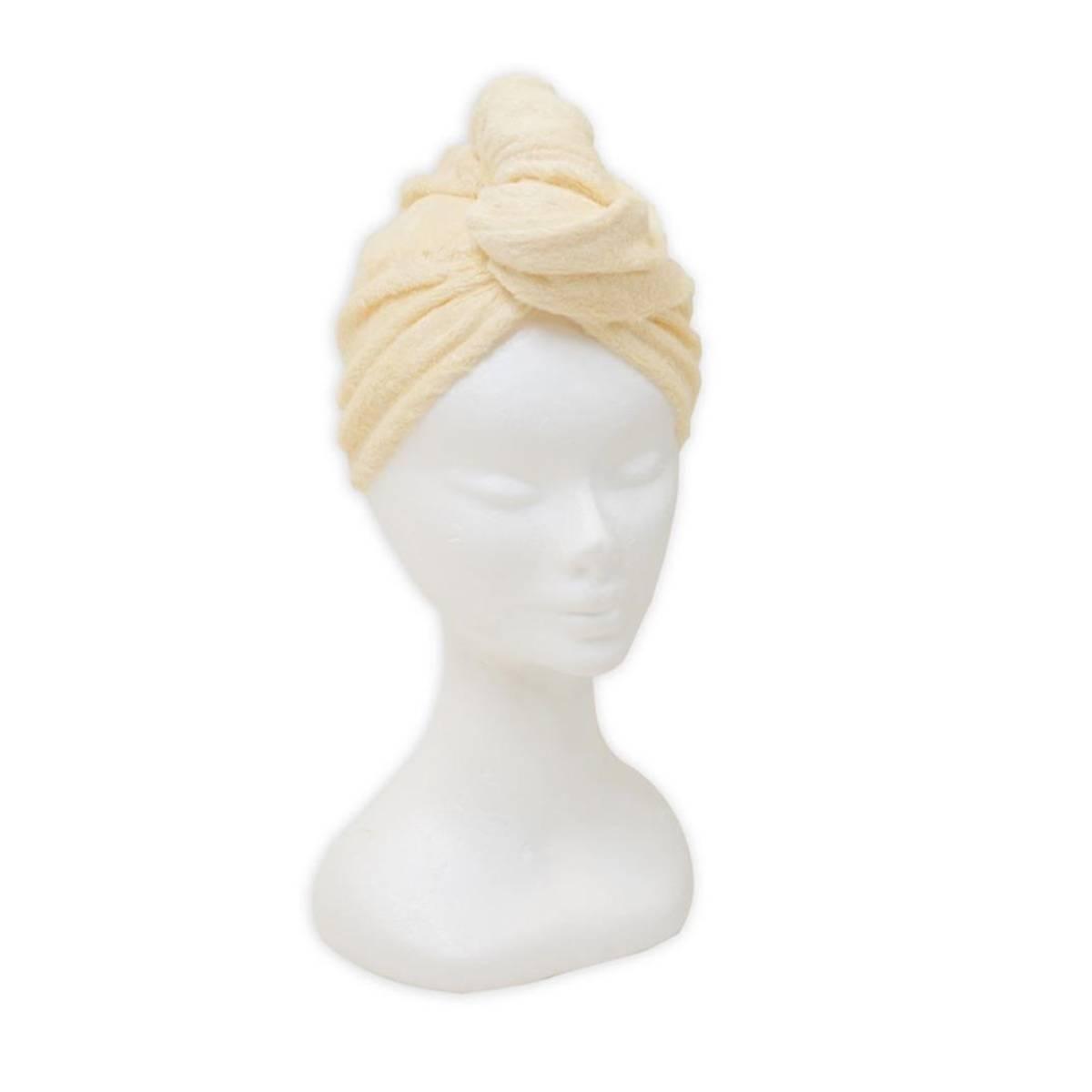Bambus hårhåndkle -gul