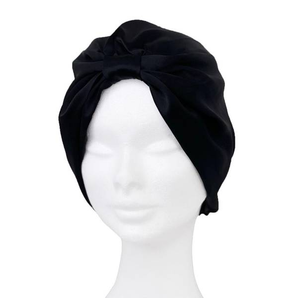 Bilde av Sove turban i silke-sort